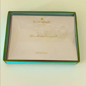 Kate Spade notecard box set